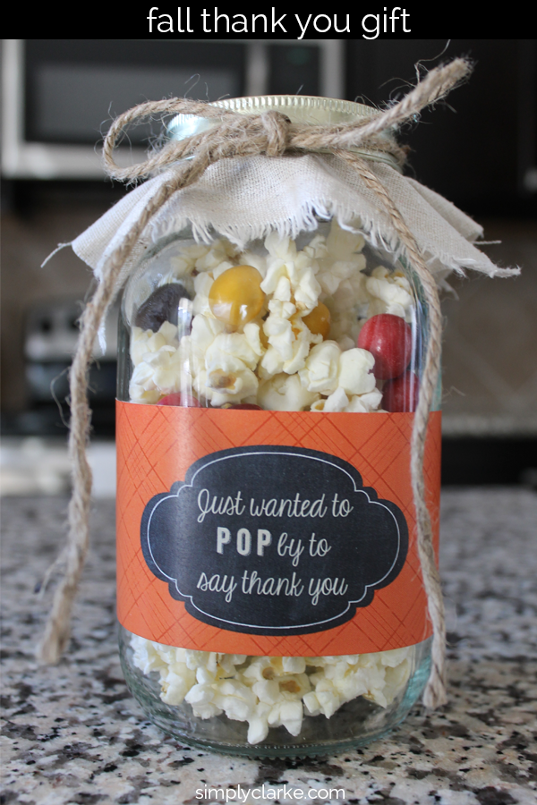 Low Calorie Popcorn Fall Gift Idea - Simply Clarke