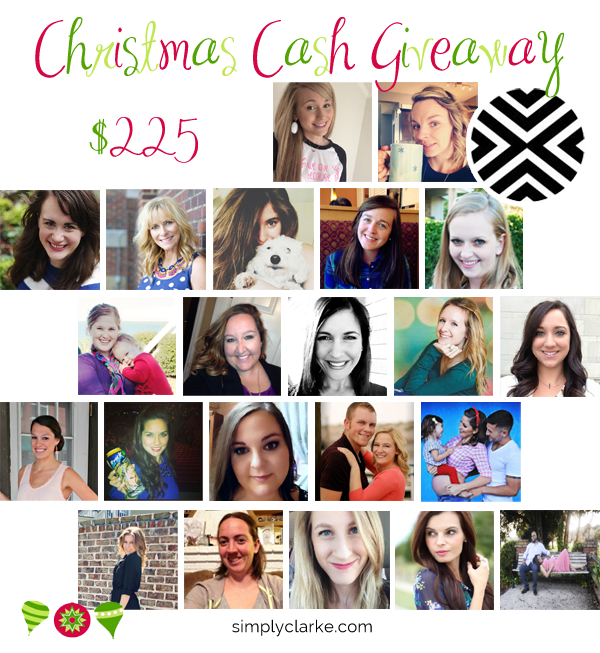 Christmas Cash Giveaway, cash giveaways, blog giveaways, simply clarke, boone and owl