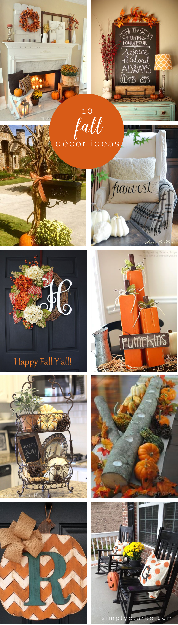 10 Fall Decor Ideas Simply Clarke