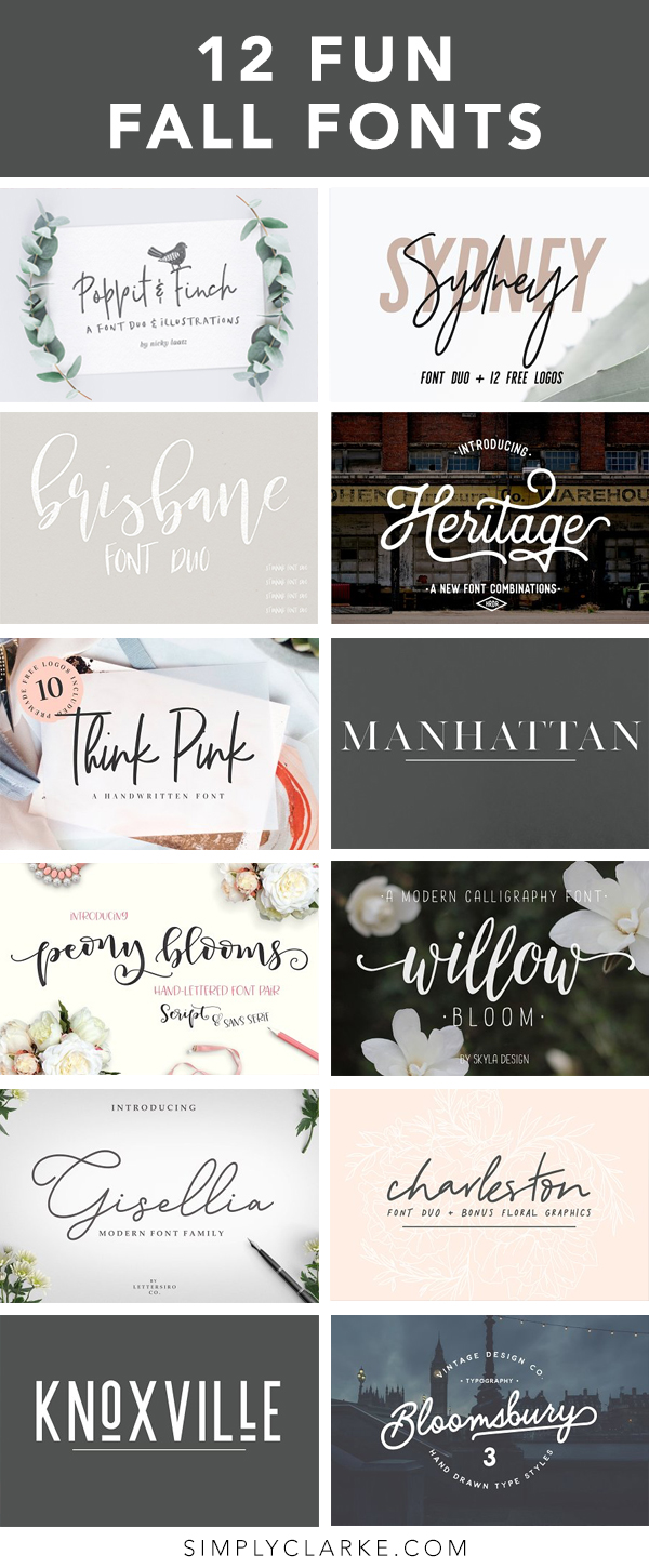 12 Fun Fall Fonts
